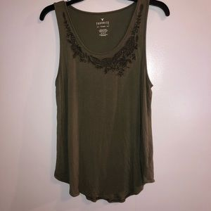 American Eagle tank, fits smaller than expected